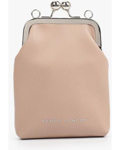Кожаная сумка через плечо - бежевая Keddo