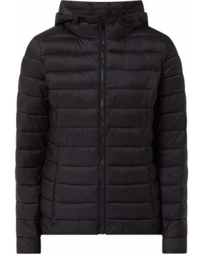 Czarna kurtka pikowana z kapturem Montego