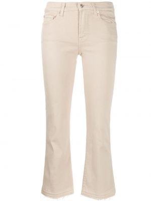 Укороченные джинсы с карманами в стиле бохо с воротником 7 For All Mankind