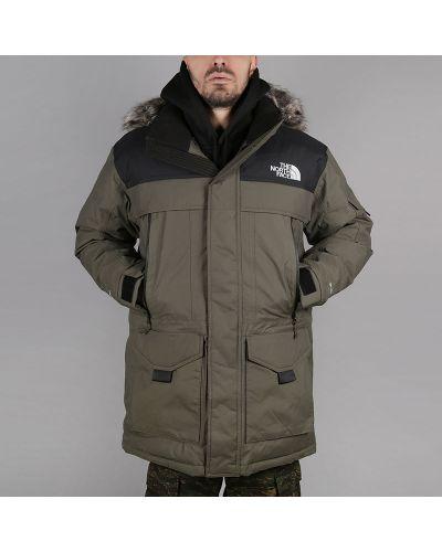Куртка черная зеленая The North Face