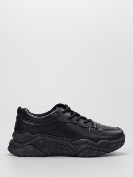 Кожаные кроссовки - черные Braska
