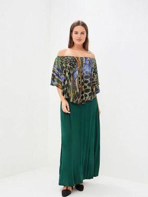 Платье с открытыми плечами осеннее Артесса