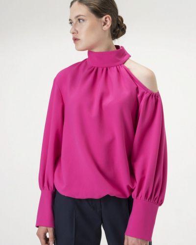 Блузка с открытыми плечами розовая Белка