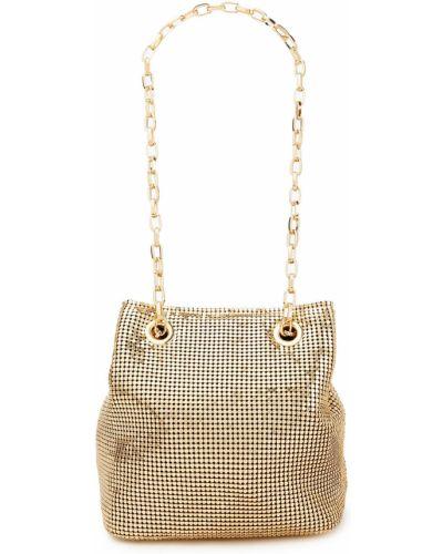 Złota torebka na łańcuszku Rixo