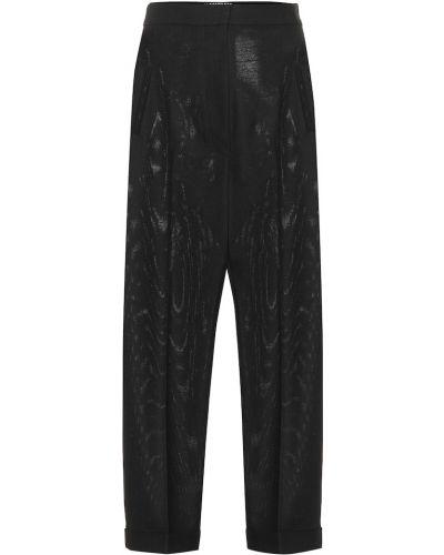 Czarne spodnie wełniane Jacquemus