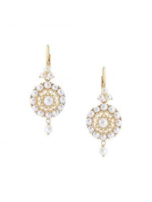 Серьги золотые с жемчугом круглые Dolce & Gabbana