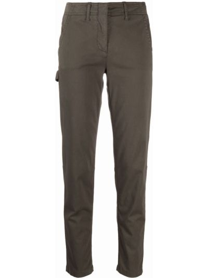 Зеленые хлопковые брюки Luisa Cerano