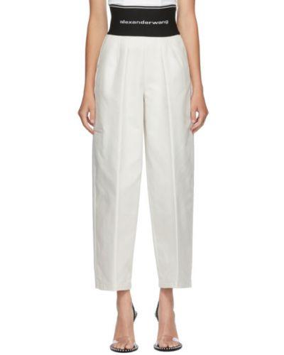 Bawełna spodni szerokie spodnie z kieszeniami bezpłatne cięcie Alexander Wang