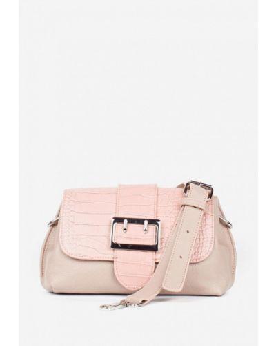 Кожаная сумка через плечо - розовая Bella Bertucci