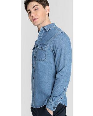 Джинсовая рубашка с карманами с длинным рукавом Ostin