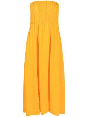 Платье макси на молнии шелковое Nina Ricci