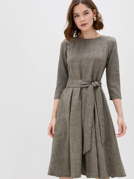 Коричневое повседневное платье Maurini