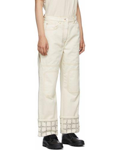 Белые джинсы с вышивкой Jw Anderson