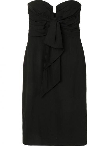 Czarna sukienka z jedwabiu Christian Dior