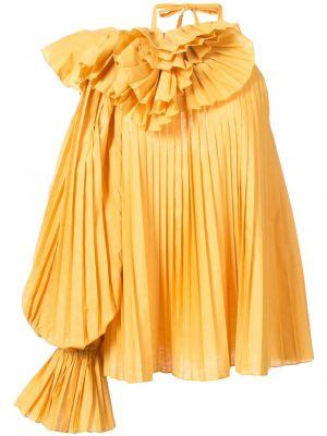 Блузка с рюшами - желтая Rosie Assoulin