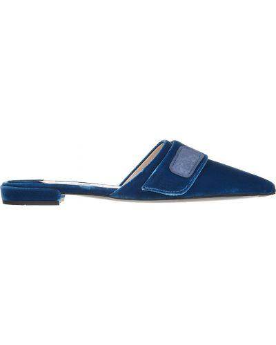 Синие мюли Prada