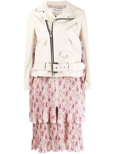 Кожаная куртка на молнии Junya Watanabe
