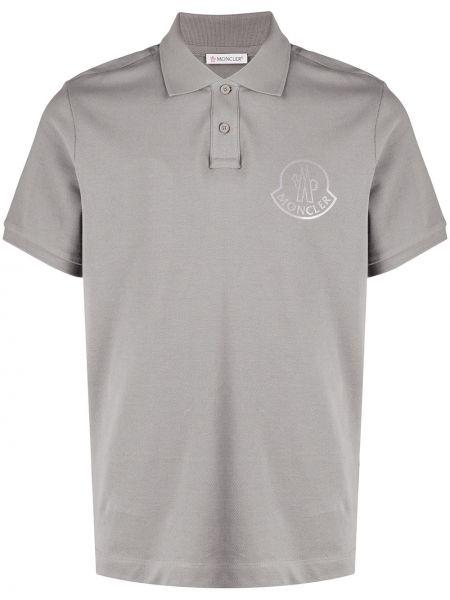 Bawełna bawełna koszula z krótkim rękawem z kołnierzem krótkie rękawy Moncler