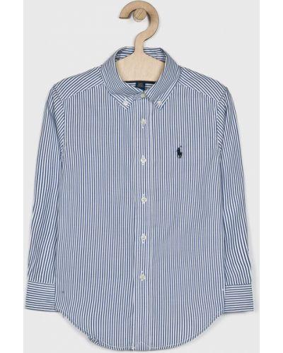 Niebieska koszula bawełniana casual Polo Ralph Lauren