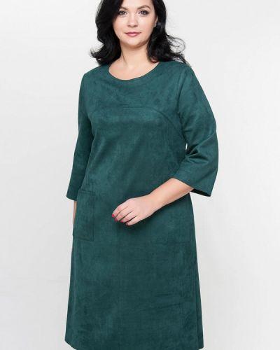 Платье миди зеленый Лимонти
