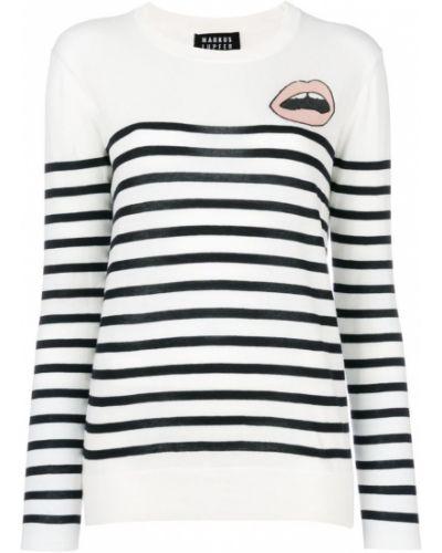 Белый свитер в полоску Markus Lupfer