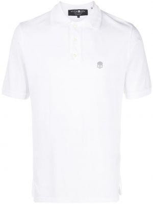 Biała koszula krótki rękaw bawełniana Hydrogen