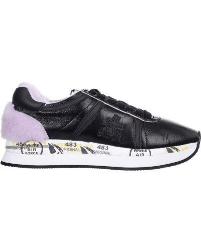 Кроссовки с мехом черные Premiata