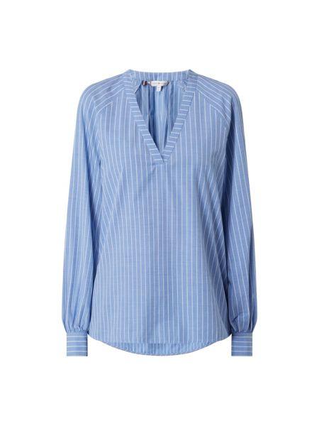 Niebieska bluzka sportowa w paski bawełniana Tommy Hilfiger