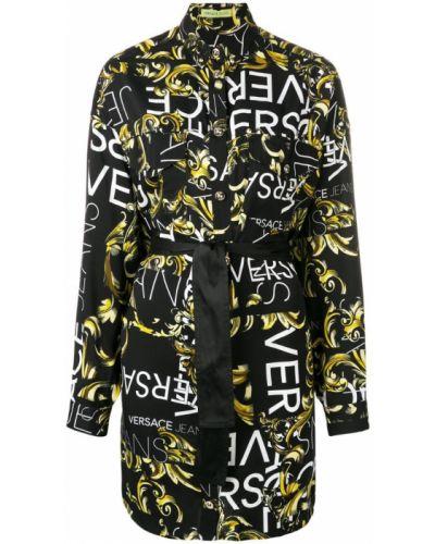 Платье макси длинное - черное Versace Jeans