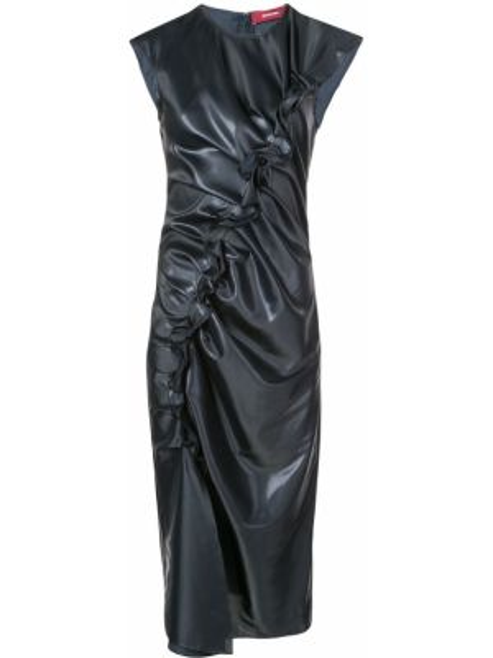 Плиссированное платье миди на молнии без рукавов с вырезом Sies Marjan