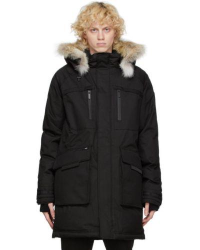 Czarna kurtka z kapturem z długimi rękawami Nobis