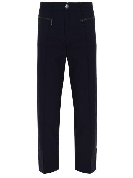Прямые синие спортивные брюки с карманами на пуговицах Bogner