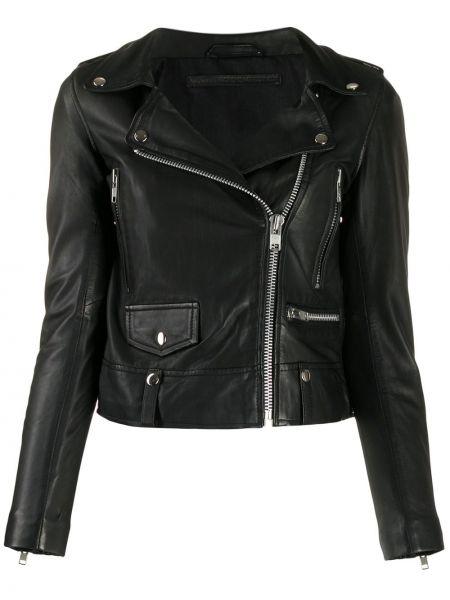 Черная короткая куртка с манжетами Munderingskompagniet