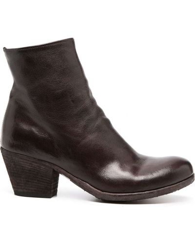 Коричневые кожаные ботинки Officine Creative