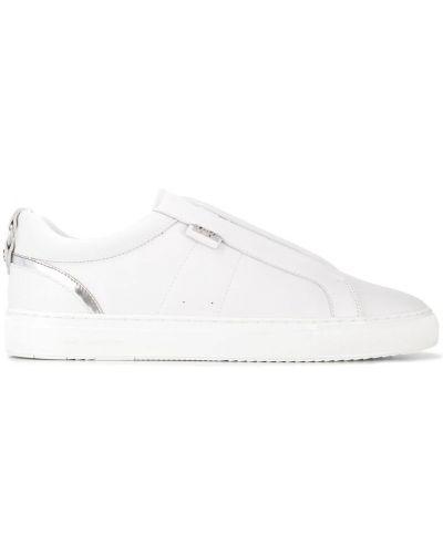 Кеды белые с логотипом Karl Lagerfeld