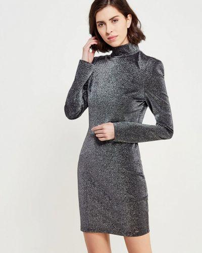 Платье с длинными рукавами серебряного цвета Guess Jeans