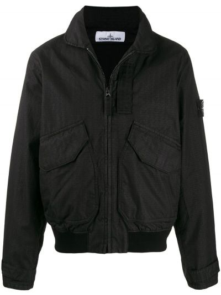 Длинная куртка - черная Stone Island
