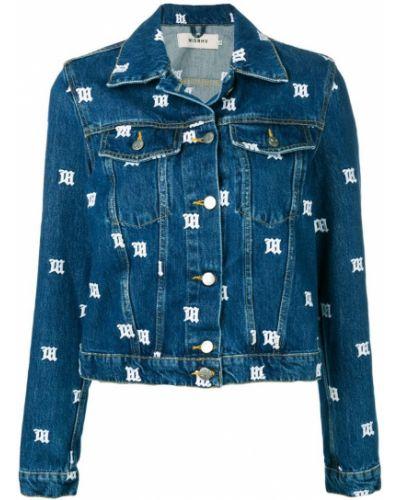 Синяя джинсовая куртка с вышивкой Misbhv