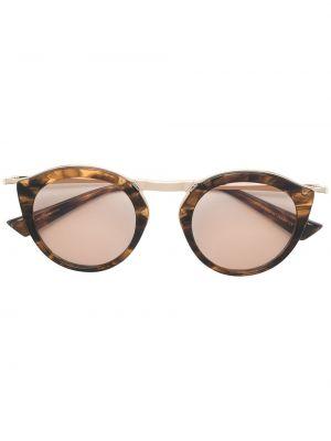 Brązowe złote okulary Christian Roth