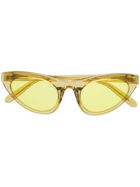 Прямые муслиновые желтые солнцезащитные очки Han Kjøbenhavn