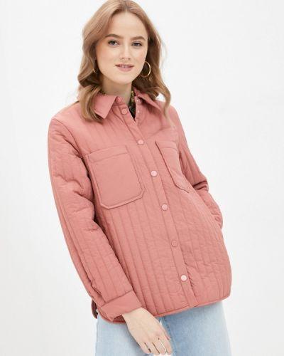 Утепленная розовая куртка Pieces