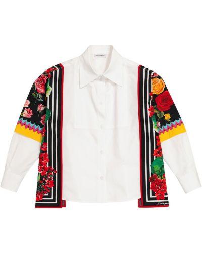 Klasyczna biała klasyczna koszula bawełniana Dolce & Gabbana Kids