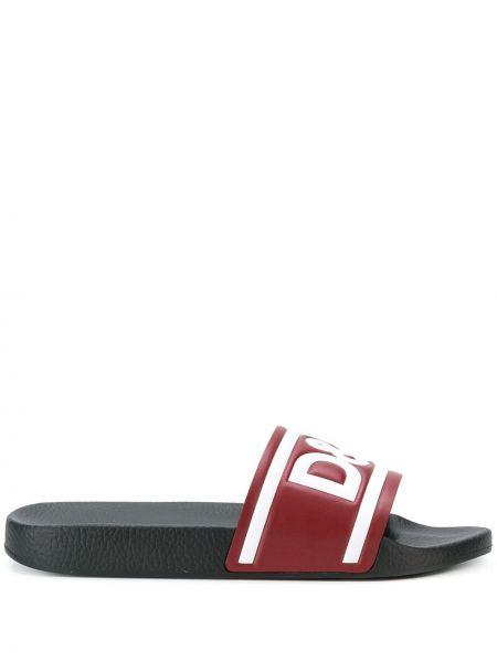 Czarne sport sandały skorzane na co dzień Dolce And Gabbana