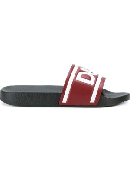 Sandały skórzane - czarne Dolce And Gabbana