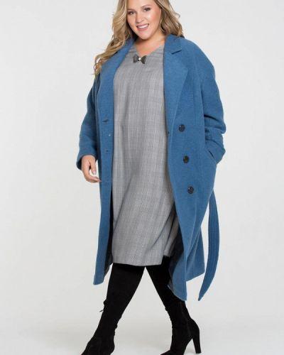 Синее пальто с капюшоном Intikoma