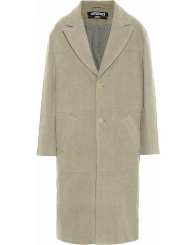 Brązowy płaszcz wełniany Jacquemus