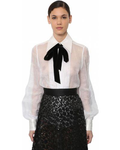 Блузка из органзы - белая Marc Jacobs