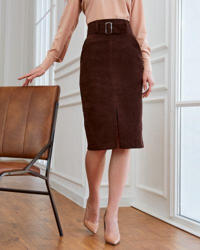 Юбка вельветовая - коричневая Dressa