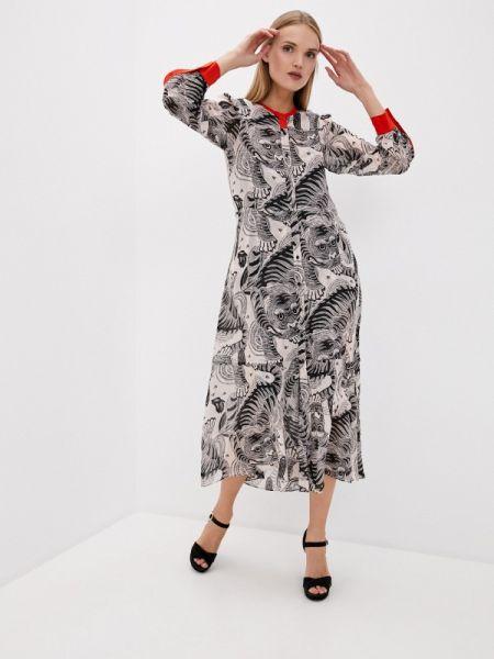 Повседневное платье серое весеннее Dorothee Schumacher