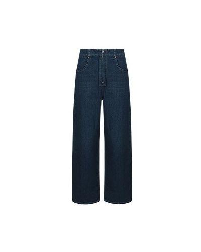 Широкие брюки - голубые Mm6